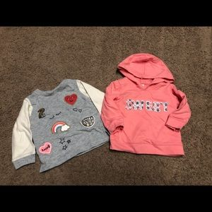 2 sweatshirts for toddler - great condition!!